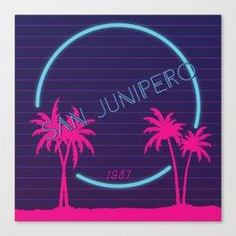 '87 Beach Canvas Print