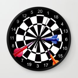 Dart Board Target  Wall Clock