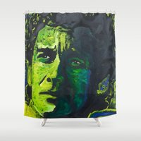 senna Shower Curtains featuring Senna by Matt Pecson