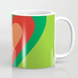 three hearts on green Coffee Mug