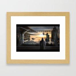Ship's Station Framed Art Print