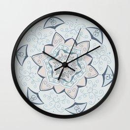 Jin Blue Mandala Wall Clock