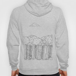 BigFoot Forest (Black and White) Hoody