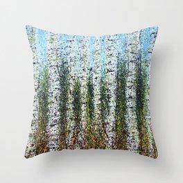Alder Forest Throw Pillow