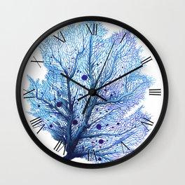 Fan Coral - Blue Wall Clock