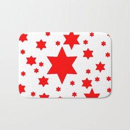 JULY 4TH  RED STARS DECORATIVE DESIGN Bath Mat
