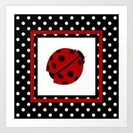 Ladybug And Polkadots Art Print