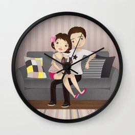 Little family Wall Clock