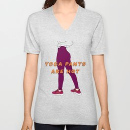 Yoga Pants Unisex V-Neck