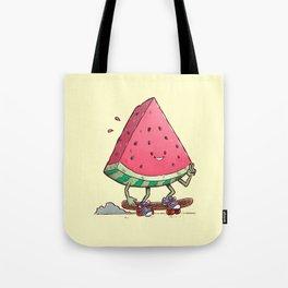 Watermelon Slice Skater Tote Bag