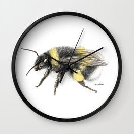 White-tailed bumblebee Wall Clock