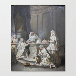 Vestal virgins by Jean Raoux Canvas Print