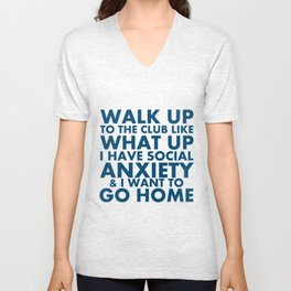 "Request-""What Up"" Unisex V-Neck"