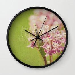 Joy in the Little Things Wall Clock