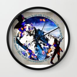 Nina and Matthias - Overwhelm Me Wall Clock