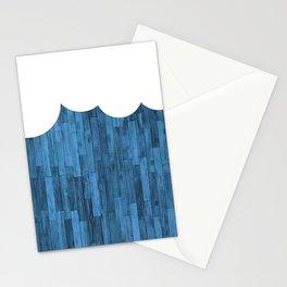 wood grain rain cloud Stationery Cards