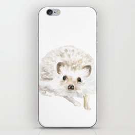 Watercolor Hedgehog Painting - Woodland Animal Art iPhone Skin