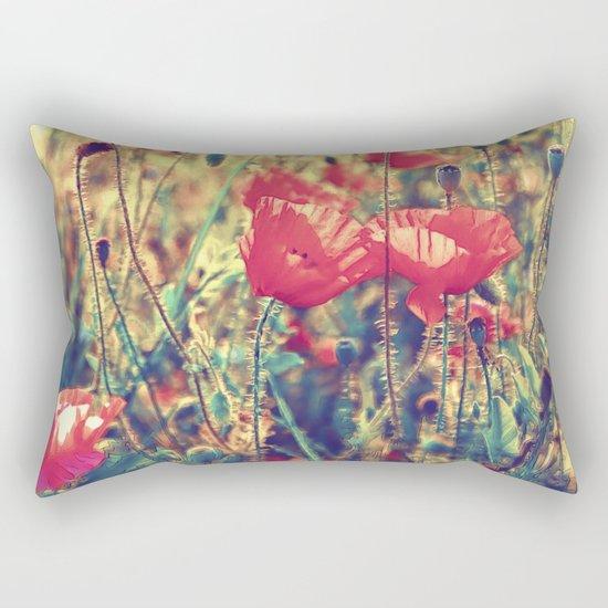 Morning Light - Poppy Field Rectangular Pillow