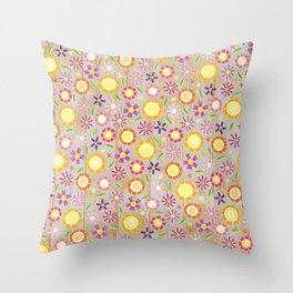 Camp Floral Throw Pillow
