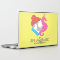 steve zissou Laptop & iPad Skins featuring The Life Aquatic With Steve Zissou by John-Lewis Anderson