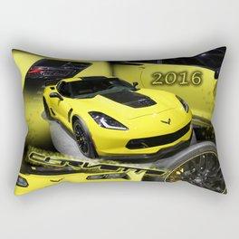 2016 Corvette Rectangular Pillow