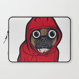 French Bulldog Red Hoodie Laptop Sleeve