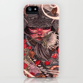 Female Samurai Warrior iPhone Case