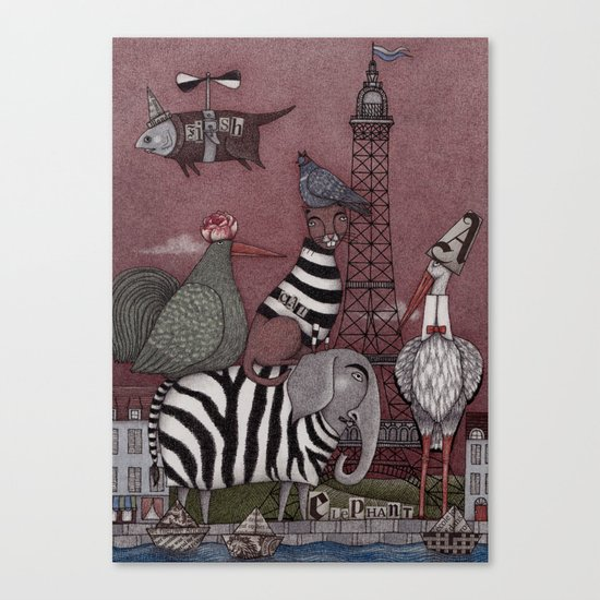 Animal Convention Canvas Print