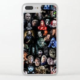 Legends of Horror print Clear iPhone Case