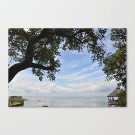 OuterBanks Vacation Blue Sky Landscape Scene Canvas Print