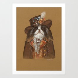 Japanese Chin. The Voyager. Art Print