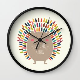 Give Me A Hug Wall Clock