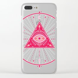 Evil Eye Mandala – Pink Clear iPhone Case