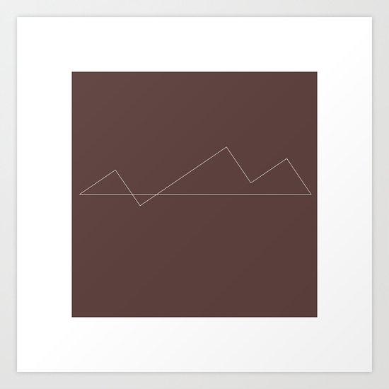 #31 Minimal Mountains – Geometry Daily Art Print