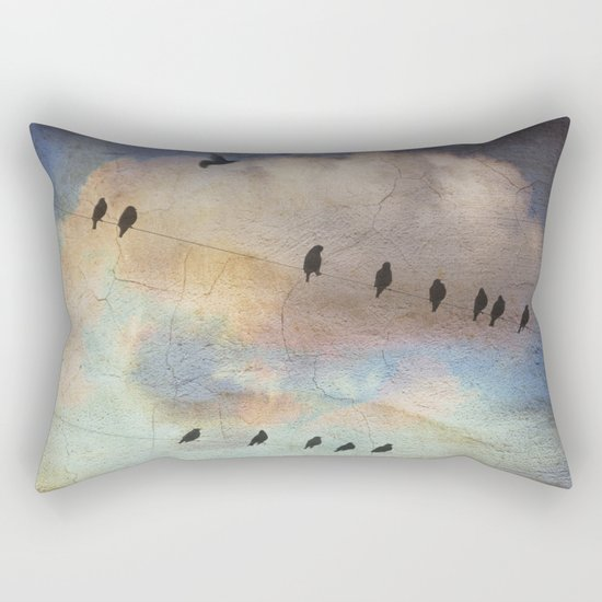 lazy birds Rectangular Pillow