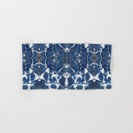Shibori Blue Crepe De Chine Hand & Bath Towel