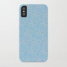 pattern blue Slim Case iPhone X