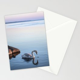 A beautiful swan Stationery Cards