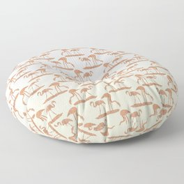 Gold Leaf Flamingo Pattern Floor Pillow