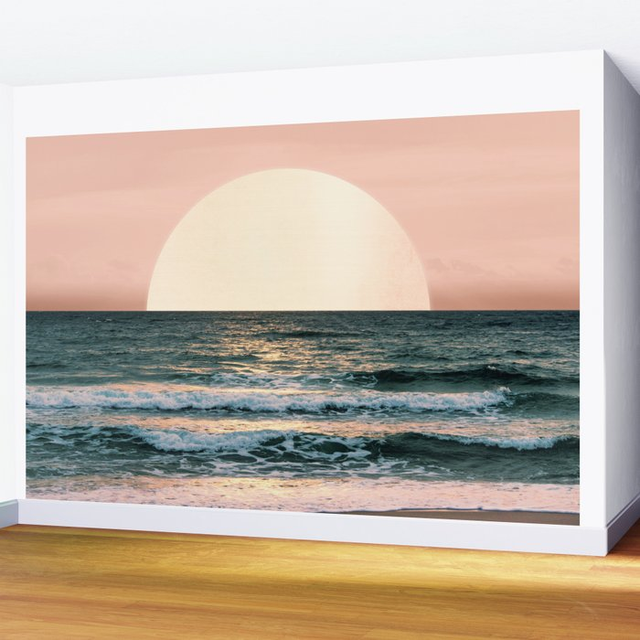Summer Sunset Wall Mural By Cascadia Society6