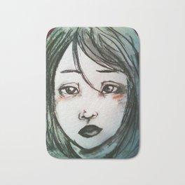 Charcoal Portrait (Ava) Bath Mat
