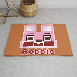 Block Robbie Orange Rug