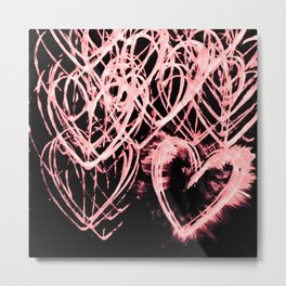Repetitive Heart (edit 3) Metal Print
