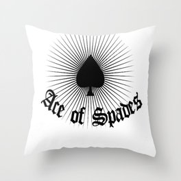 Ace of spades,light burst art, custom gift design Throw Pillow