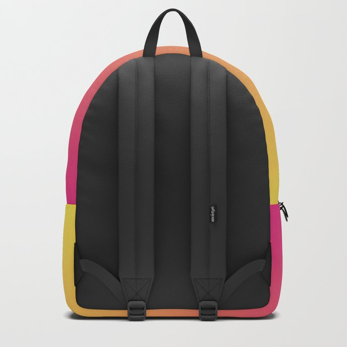 Ombre  digital illustration yellow Magenta colors Backpack