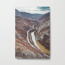 Beautiful picture of the canyon in Serbia. Dramatic sky and mountains Metal Print