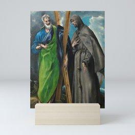 "El Greco (Domenikos Theotokopoulos) ""Saints Andrew and Francis"" Mini Art Print"