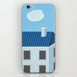 Blue roofs iPhone Skin