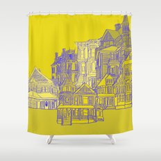 Victorians houses Shower Curtain