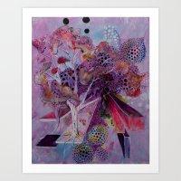 The Autumn Birch Art Print